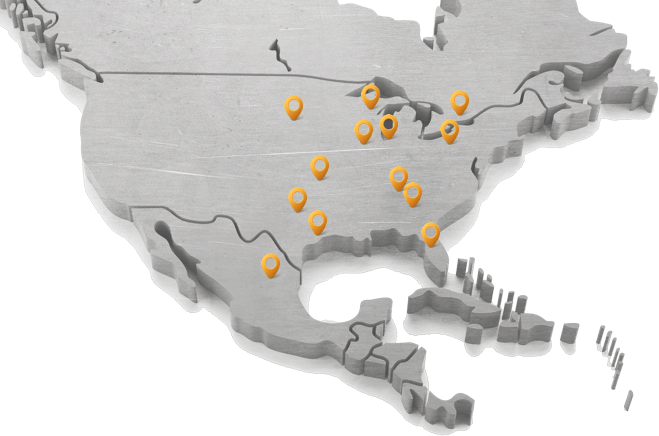 steel plate supplier distribution centers map
